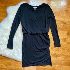 Leith Long Sleeve Black Knit Sheath Dress | Sz: M